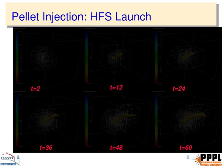 Pellet Injection: HFS Launch