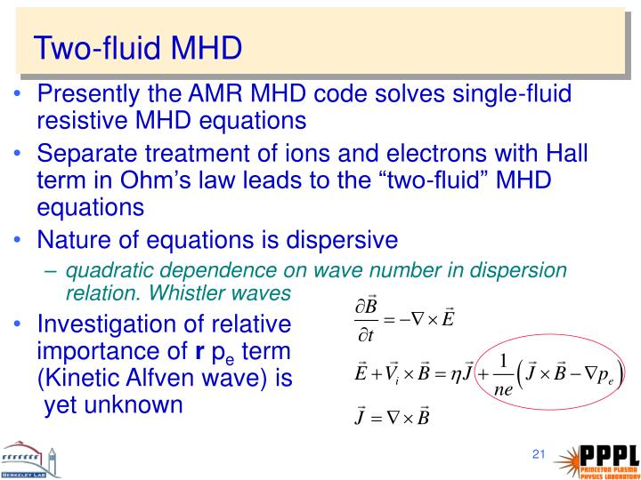 Two-fluid MHD
