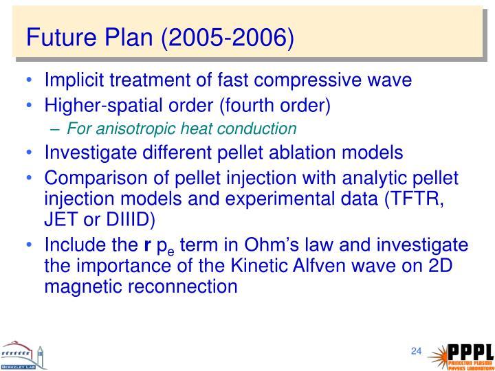 Future Plan (2005-2006)