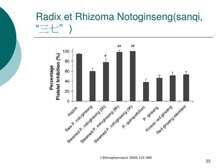 "Radix et Rhizoma Notoginseng(sanqi, """