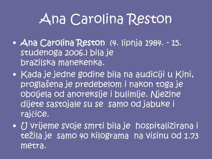 Ana Carolina Reston