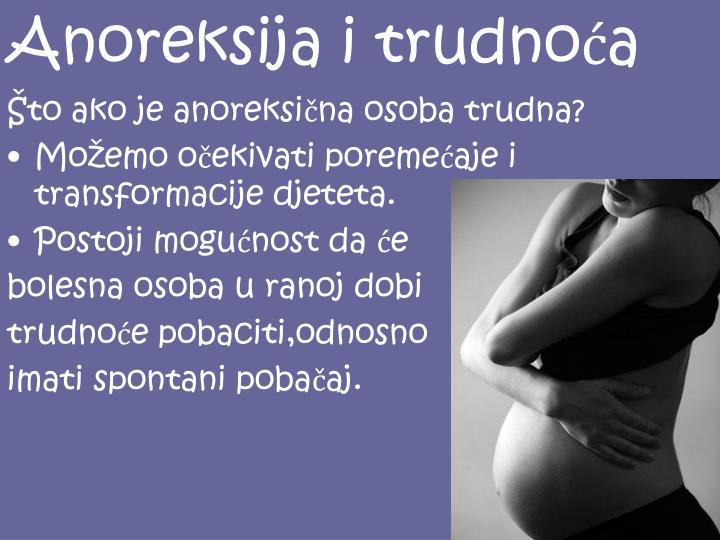 Anoreksija i trudnoća