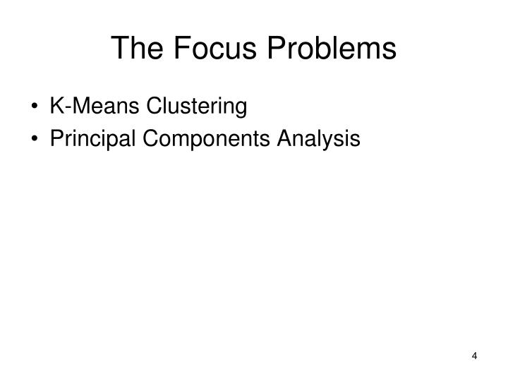 The Focus Problems