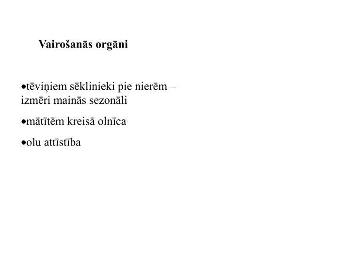 Vairošanās orgāni