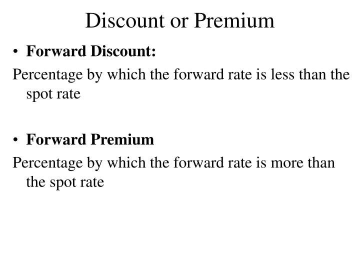 Discount or Premium