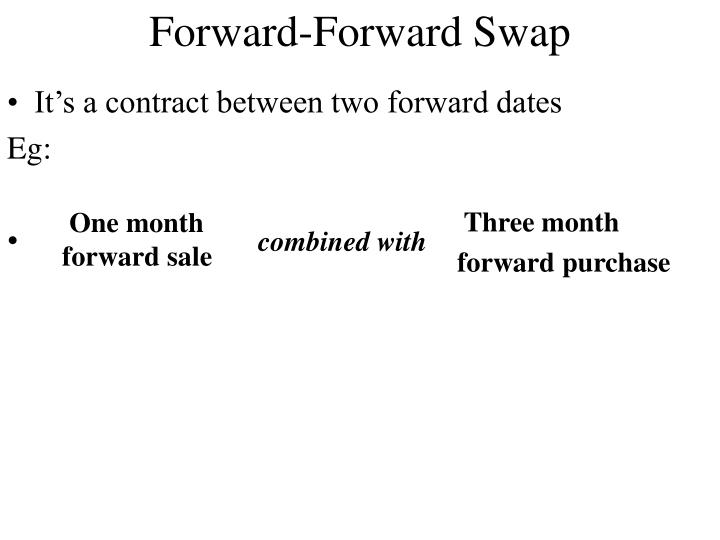 Forward-Forward Swap