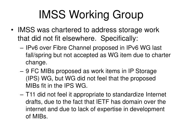 IMSS Working Group