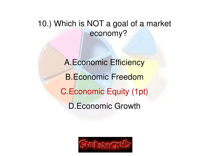 10.) Which is NOT a goal of a market economy?