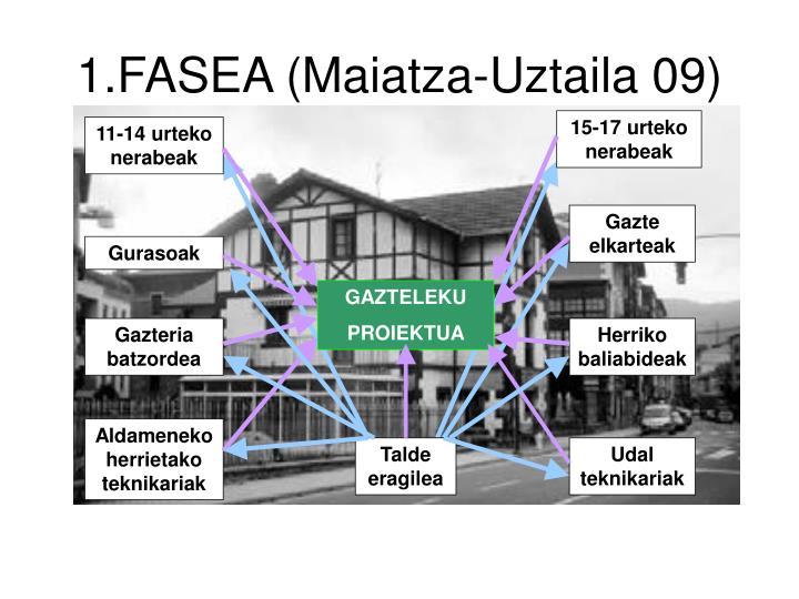 1.FASEA (Maiatza-Uztaila 09)