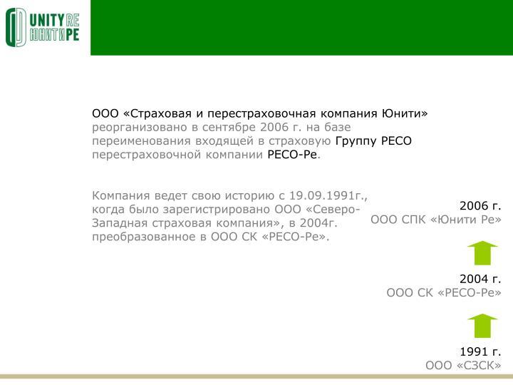 ООО «Страховая и перестраховочная компания Юнити»