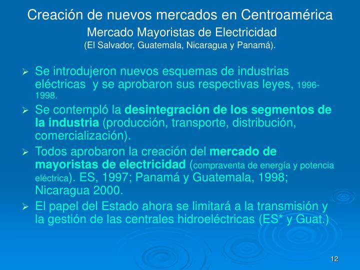 Creación de nuevos mercados en Centroamérica