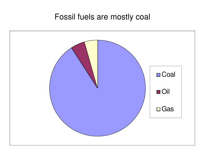 Fossil fuels are mostly coal