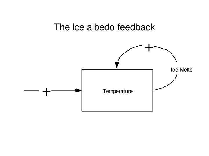 The ice albedo feedback