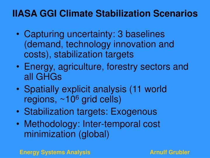 IIASA GGI Climate Stabilization Scenarios