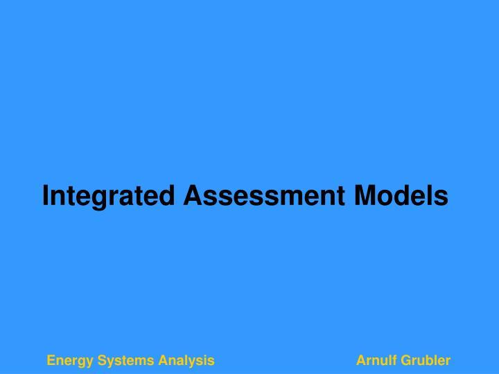 Integrated Assessment Models