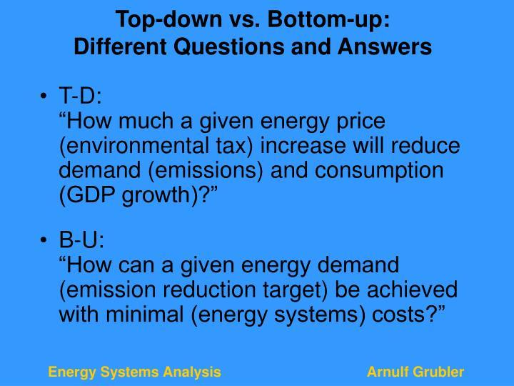 Top-down vs. Bottom-up:
