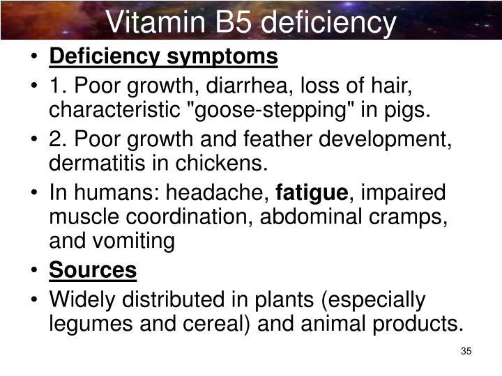 Vitamin B5 deficiency