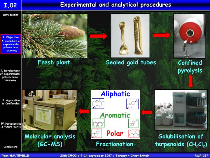 Experimental and analytical procedures