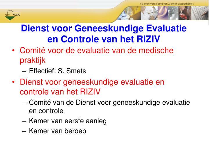 Dienst voor Geneeskundige Evaluatie