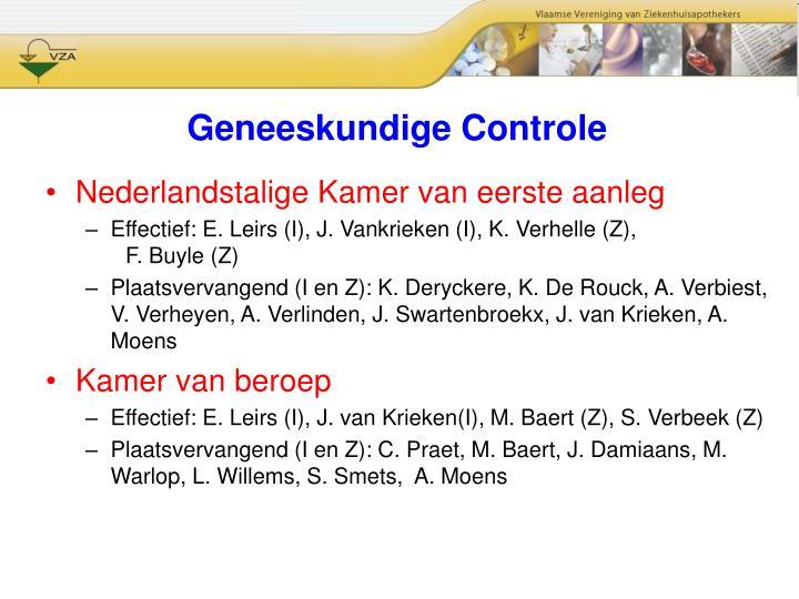 Geneeskundige Controle