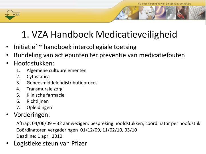 1. VZA Handboek Medicatieveiligheid
