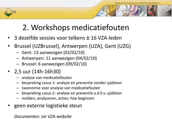 2. Workshops medicatiefouten