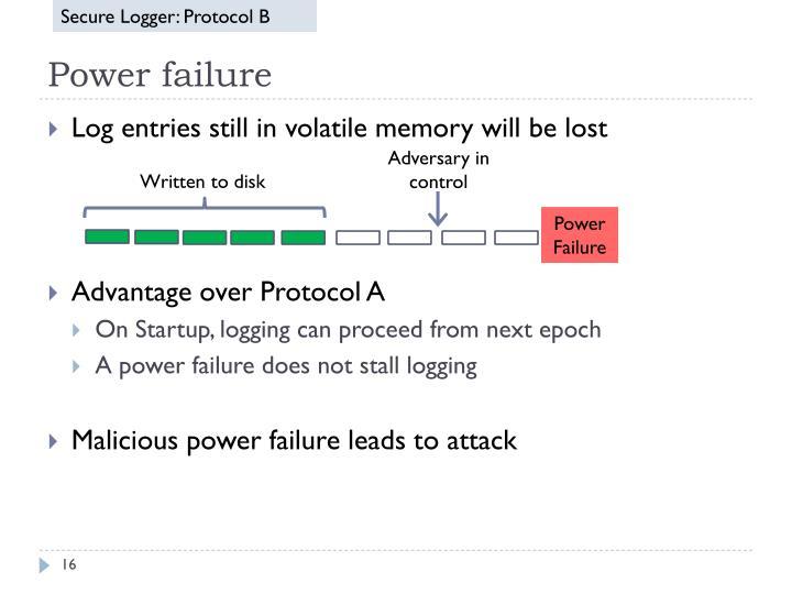 Secure Logger: Protocol B