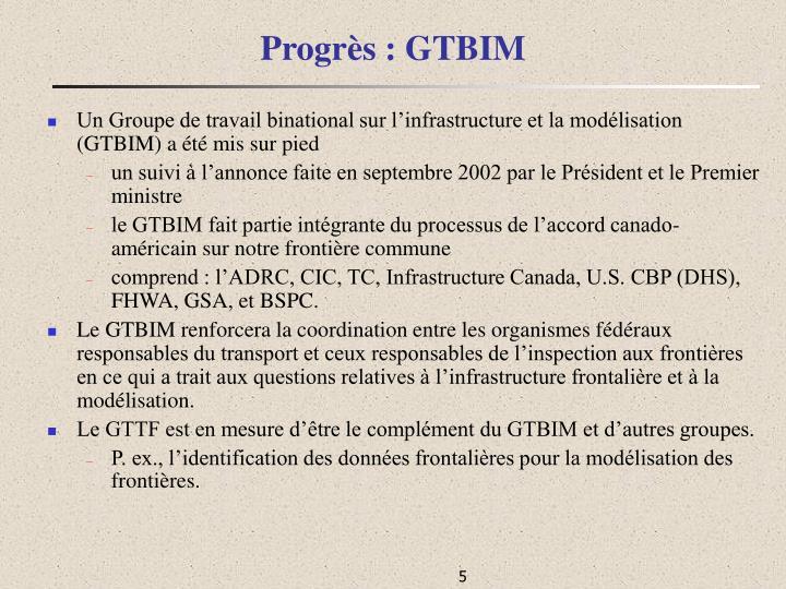 Progrès : GTBIM