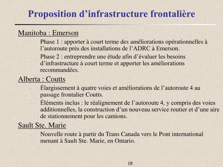 Proposition d'infrastructure frontalière