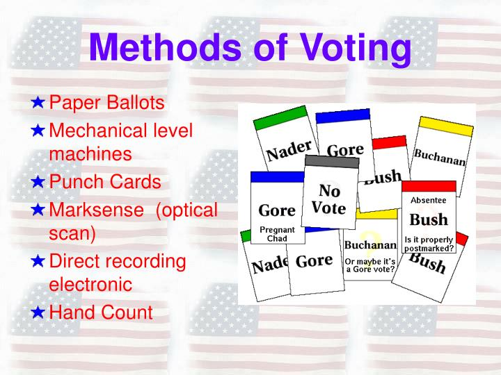 Methods of voting