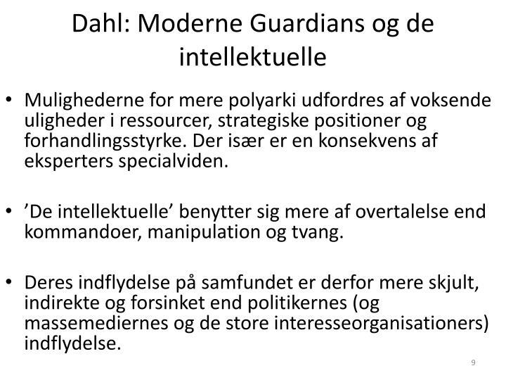 Dahl: Moderne