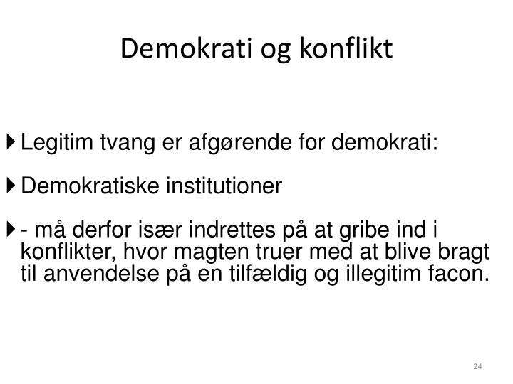 Demokrati og konflikt
