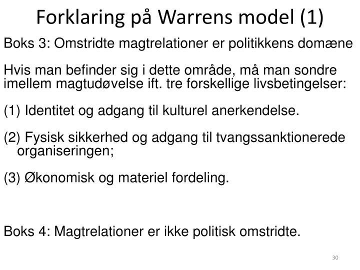 Forklaring på Warrens model (1)
