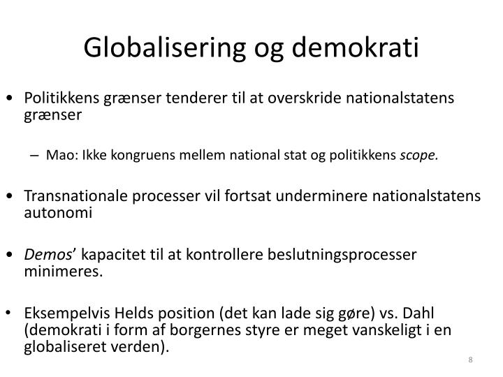 Globalisering og demokrati