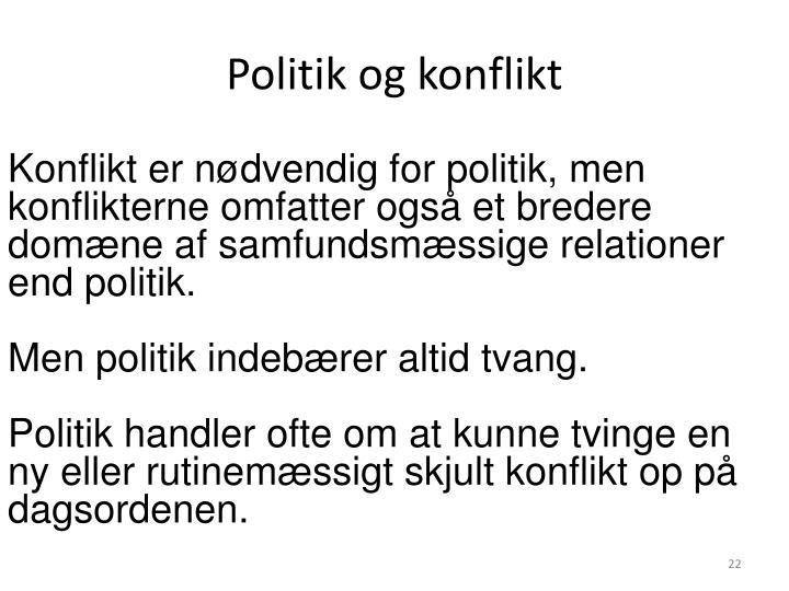 Politik og konflikt