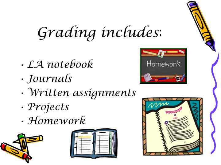 Grading includes