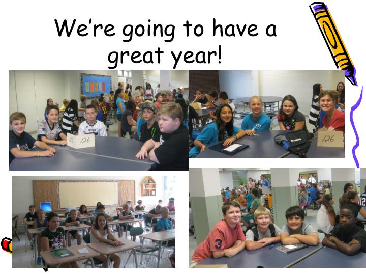 We're going to have a great year!