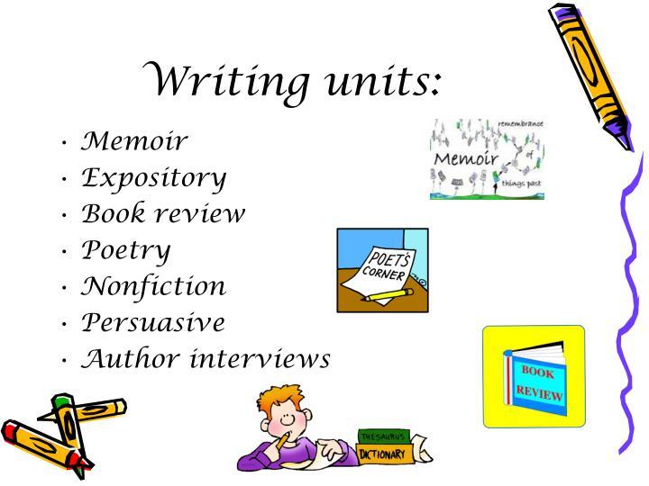 Writing units: