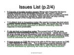 issues list p 2 4