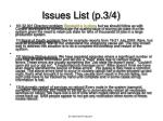 issues list p 3 4