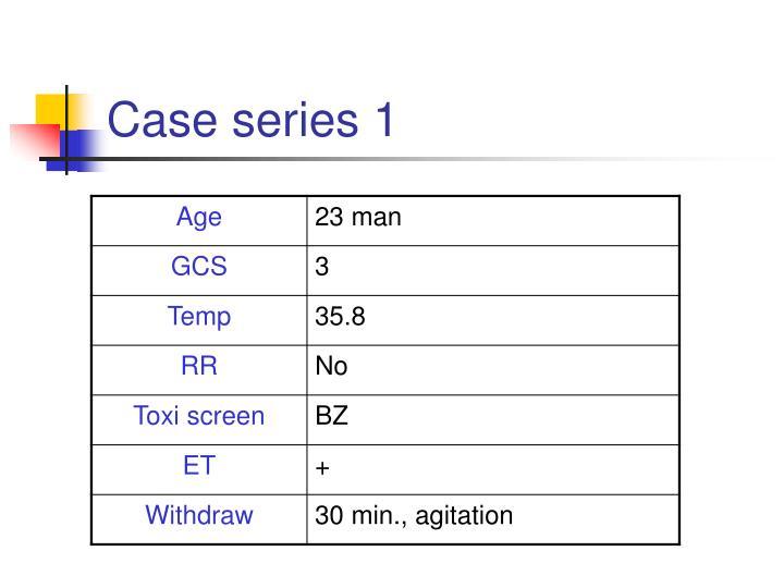 Case series 1