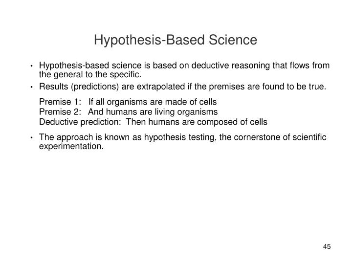 Hypothesis-Based Science