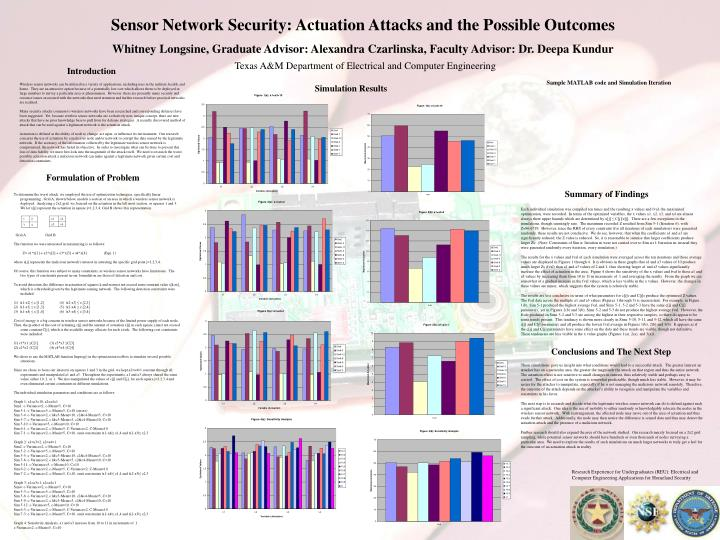 Sensor Network Security: Actuation Attacks and the Possible Outcomes
