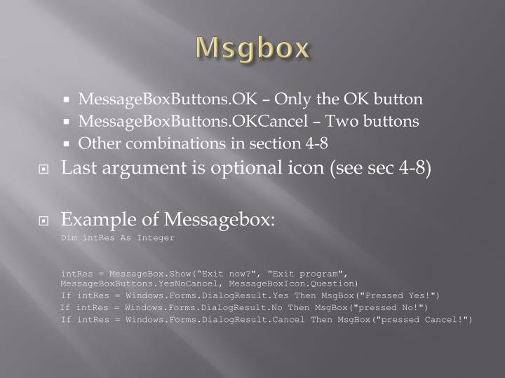 Msgbox