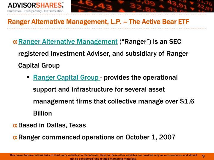 Ranger Diversified Investment Fund L P in Wilmington DE