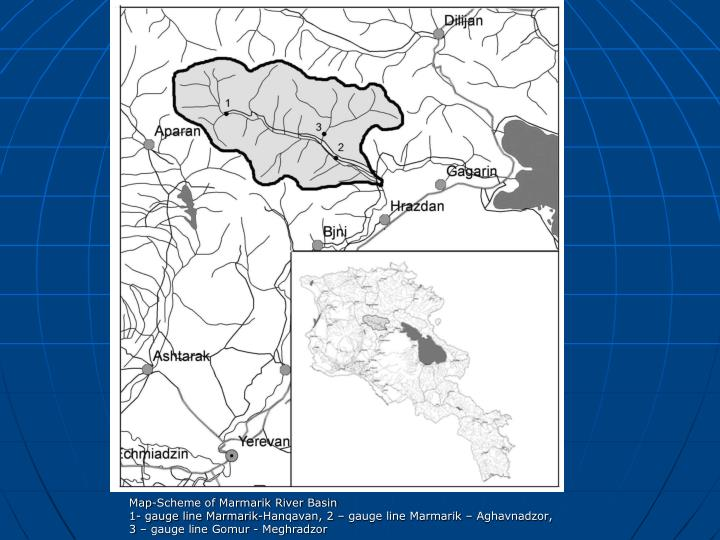 Map-Scheme of Marmarik River Basin