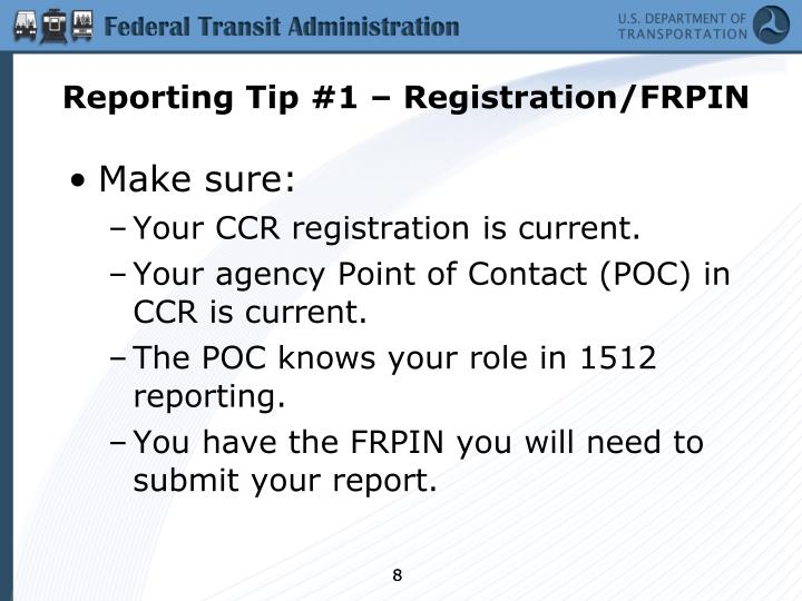 Reporting Tip #1 – Registration/FRPIN