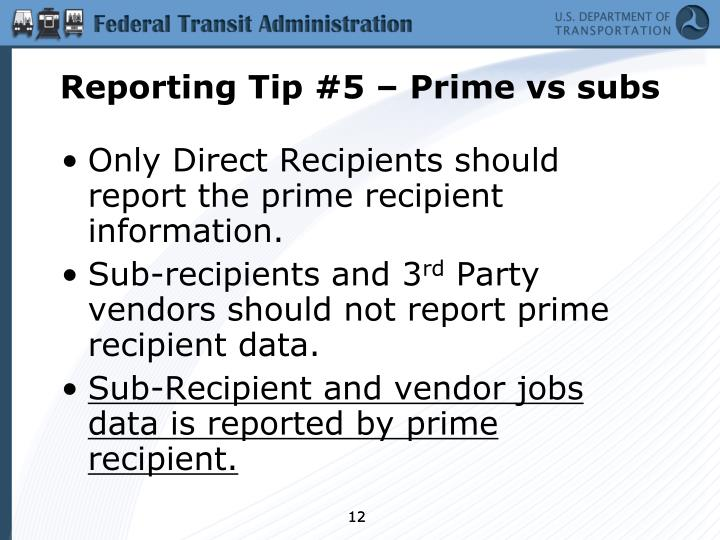 Reporting Tip #5 – Prime vs subs