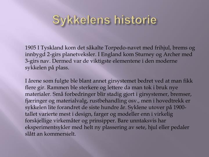 Sykkelens historie