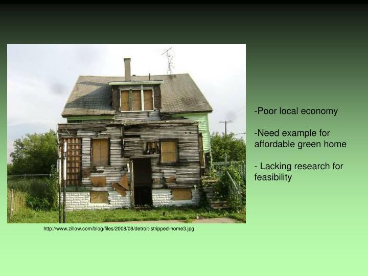 Poor local economy